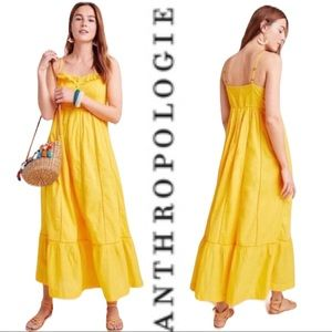 Dresses & Skirts - Anthropologie Maeve Arcadia Maxi Dress NWT Yellow